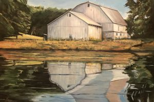 Country Barn Reflection